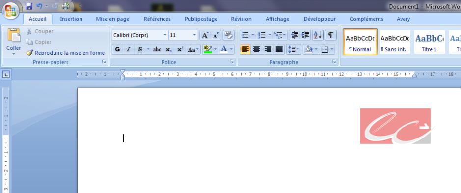 word 2007  u2013 2010   num u00e9ro de pages dans le logo de votre