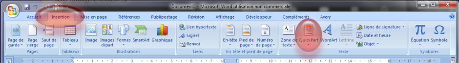 Menu Word 2007