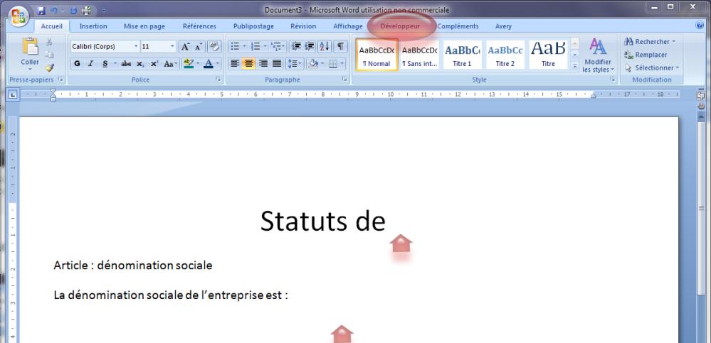 Astuce Word : utilisation des champs dans la rédaction des contrats (6/6)