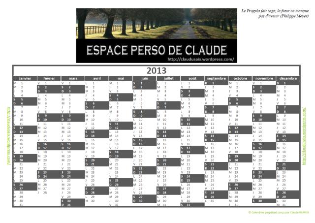 Le calendrier perpétuel en image